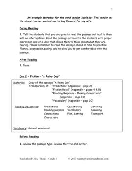 Read Aloud - USA - Basic - Grade 1