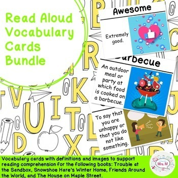 Read Aloud Vocabulary Cards Bundle
