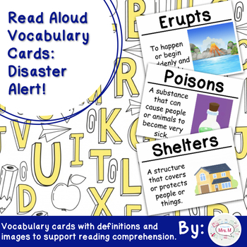 Read Aloud Vocabulary Cards: Disaster Alert!