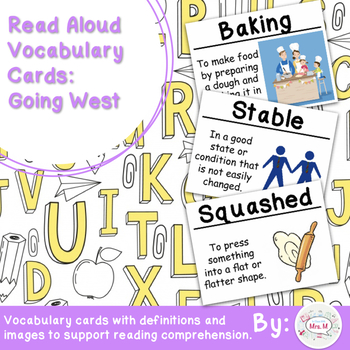 Read Aloud Vocabulary Cards: Going West