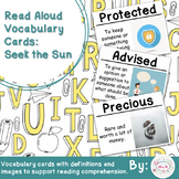 Read Aloud Vocabulary Cards: Seek the Sun