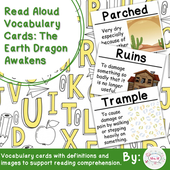 Read Aloud Vocabulary Cards: The Earth Dragon Awakens