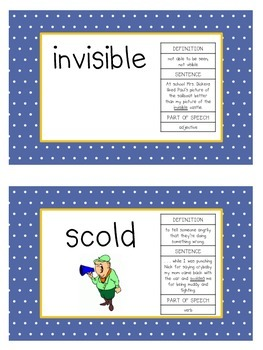 Read Aloud Vocabulary: Alexander and the Terrible, Horrible . . .