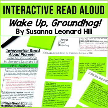 Groundhog Day Read Aloud: Wake Up, Groundhog! Interactive Read Aloud Lesson Plan