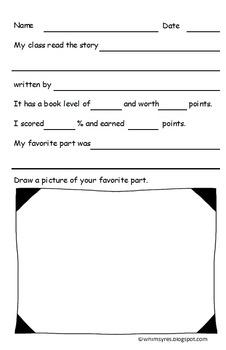 Read Aloud Worksheet