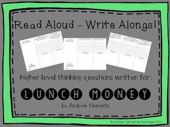 Read Aloud Write Along for Lunch Money