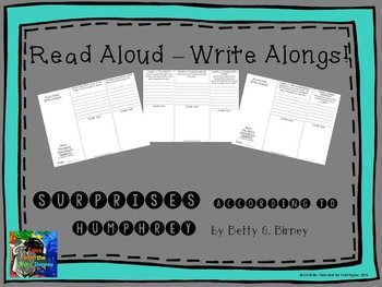 Read Aloud Write Along for Surprises According to Humphrey