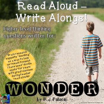 Wonder by R.J. Palacio: Read Aloud Write Along