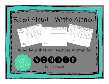 Wonder by R.J. Palacio Read Aloud Write Along Sneak Peek