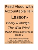 Read Aloud with Accountable Talk Lesson Plan