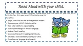 Read Aloud with your child! Parent suggestion sheet.