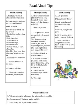 Read Aloud/Story Time Tips