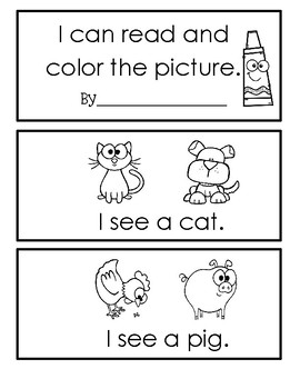 Read And Color Comprehenison Book - Set 1