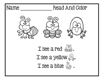 Read And Color - Spring Unit