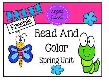 Read And Color ~ Spring Unit Freebie