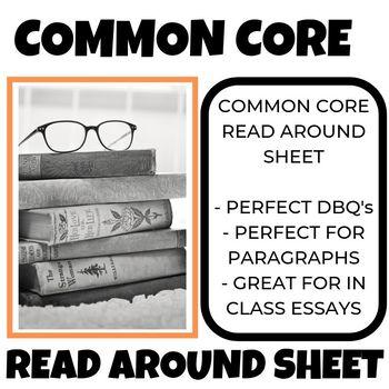 Common Core Read Around Sheet