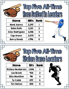 Read Around the Room-FREE Baseball Edition