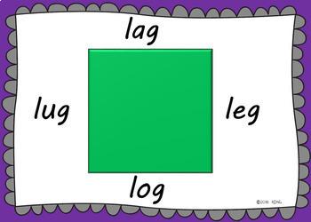 Read Around the Shape -CVC words practice  Boom Cards Deck