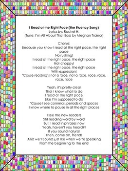 Fluency Song - Read At The Right Pace (tune of All About That Bass)