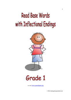 Read Base Words with Inflectional Endings: Introduce/Practice/Assess