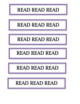 Read Bookmarks (purple)