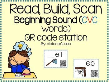 Read, Build, Scan Beginning Sounds (CVC Words)