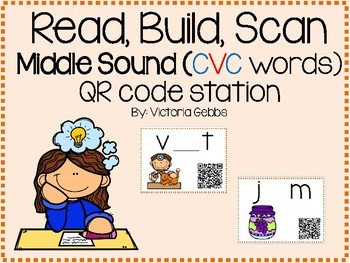 Read, Build, Scan Middle Sounds (CVC Words)