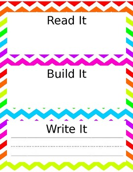 Read, Build, Write