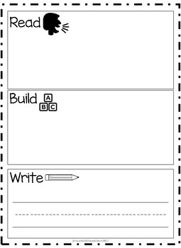 Read, Build, Write Activity Mat