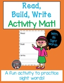 Read, Build, Write Activity Mat with (SIPPS) Sight Words
