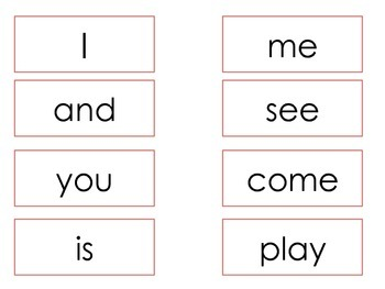 Read, Build, Write Dolch Pre-Primer Sight Words