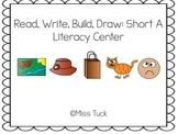 Read, Build, Write, Draw: Short A