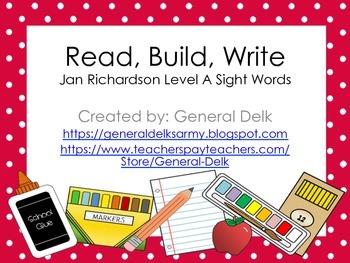Read, Build, Write Jan Richardson Level A