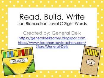 Read, Build, Write Jan Richardson Level C
