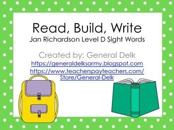 Read, Build, Write Jan Richardson Level D