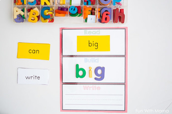 Read Build Write Mats with Dolch Sight Words and Editable Word Cards!