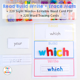 Read Build Write Mats with Dolch Sight Words and Editable