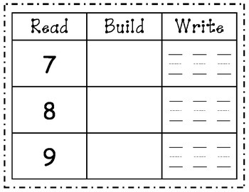 Read Build Write Numbers