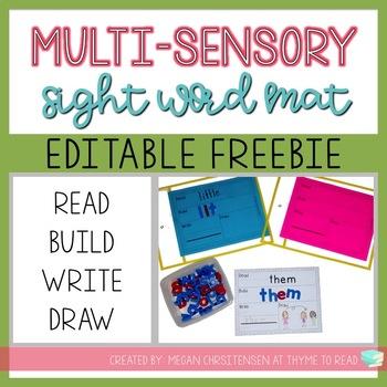 Multi-Sensory Sight Word Practice