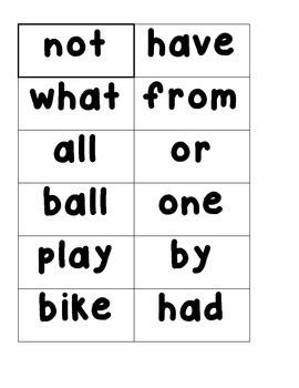 Read - Build - Write  -  Sight Word Center