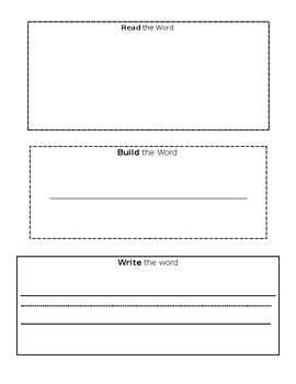 Read Build Write - Sight words