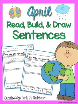 Read, Build and Draw Sentence Practice for April