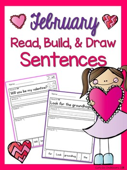 Read, Build and Draw Sentence Practice for February