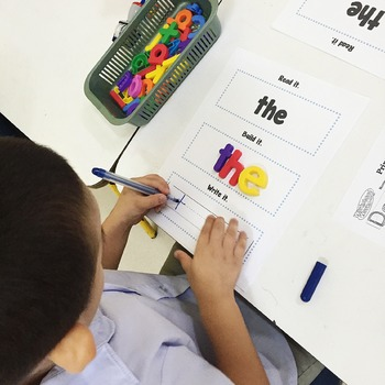 Read, Build and Write Sight Words (the)