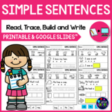 CVC Sentences Worksheets - Read, Trace, and Write Simple Sentences Worksheets