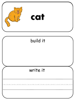 Read, Build and Write at Words