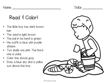 Read & Color - A Day at the Beach