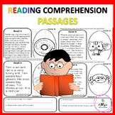Answer Reading Comprehension Passages, Read, Color, Sight Words