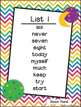 Read Color Circle Create Sight Word Printables-ALL Third Grade Dolch Words