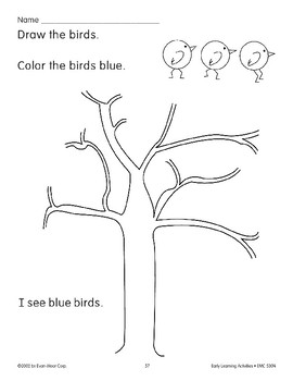 Read/Color/Draw: Bluebirds